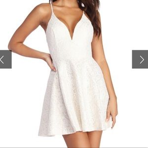 Pearl Finish Lace Skater Dress from Windsor